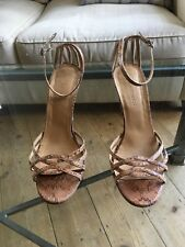 L.K. Bennett Wedges Nude Snakeskin Sandals SHOES HEELS SIZE 39 UK size 6