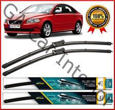 "Volvo S40 2012 2011 2010 2009 2008 07 Front Pair Flat Aero Wiper Blades 26"" 19"""
