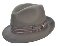 STACY ADAMS * MENS GREY WOOL FEDORA HAT XL * NEW WINTER DRESS CRUSHABLE GANGSTER
