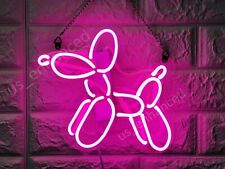 "New Dog Balloon Pink Neon Sign Acrylic Gift Light Lamp Bar Wall Room 14""x10"""