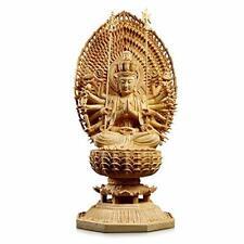 Senjukannon Buddha Statue 28cm Wood Japan SENJU KANNON