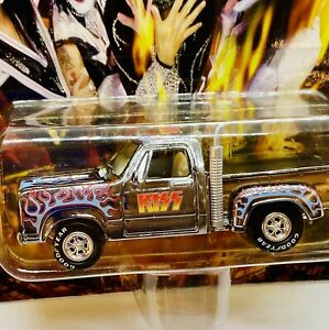 1999 Old Johnny Lightning KISS 1978 DODGE TRUCK Chrome with Real Rubber Tires!