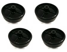 (4) DECK WHEELS for Cub Cadet MTD Troy-Bilt White Outdoor 734-973 7340973 Mowers