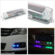 1 PC Solar Energy Car SUV Grille Strobe Warning Light DRL Daytime Lamp For Skoda