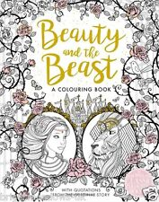 Beauty Beast Adult Colouring Book Belle Fairytale Fantasy Magical Romance Disney