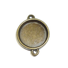 CLEARANCE 30 x Antique Bronze Cabochon Setting Connectors Tray 16mm