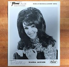 authentic Wanda Jackson press photo #1 from Mpls Flame Cafe
