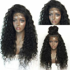Long Curly Black Wig Full Head Synthetic Black Hair Lace Net Wigs For Women US