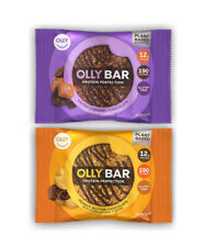 56 Olly Bar Protein Cookie Bars Peanut Butter Chocolate Salted Caramel Non GMO