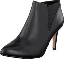 Clarks Ladies Dalhart Salsa Black Leather Ankle BOOTS UK 7 D - Standard Fitting