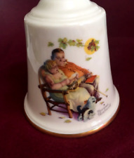 Norman Rockwell collectible bell-Loves Harmony-Fondly We Do Remember-1977 Gorham