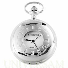 Analoge weiße Taschenuhren aus Silber