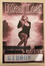 """MEATLOAF """"HANG COOL"""" TOUR GUEST PASS/TICKET GIBSON AMPHITHEATRE"""