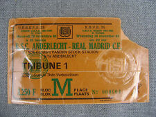TICKET RSC ANDERLECHT - REAL MADRID  28/11/1984