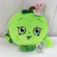 Small Shopkins GREEN APPLE BLOSSOM Pillow Plush Stuffed Animal Toy 8""