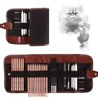 Artistic Drawing Sketch Pencil Set Charcoal Extender Paper 29PCS Set with Bag