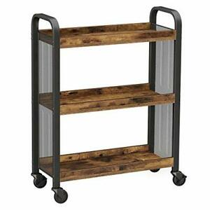 VASAGLE Kitchen Trolley, Rolling Cart, Serving Trolley with Universal Castors