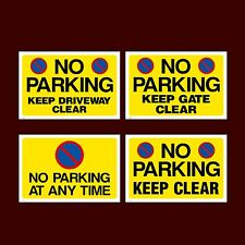 No Parking / Keep Clear Plastic Sign, Sticker - All Sizes - Pick your Design