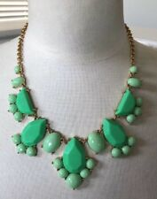 KATE SPADE Necklace GREEN 'Day Tripper' Gold Tone Bib Statement Pendant