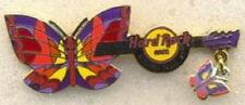 Hard Rock Cafe NIAGARA FALLS NY 2007 BUTTERFLY GUITAR Series PIN +Dangle #39815