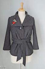 TOPSHOP tweed 1940'S 50'S belted jacket SHORT COAT sexy DITA burlesque 10 grey