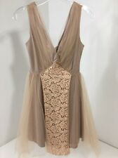 ASOS WEDDING WOMEN'S MESH & LACE MINI PROM DRESS BLUSH UK:8/US 4 NWT $89