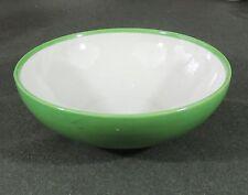 "Manning Bowman Conn 9 3/8"" Green & White Vegetable Pasta Salad Serving Bowl EUC"