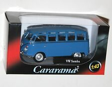 Cararama - VW Volkswagen SAMBA Bus (Blue) Model Scale 1:43