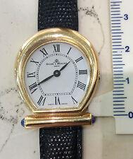Baume & Mercier orologio nuovo vintage donna oro 18 kt cinturino pelle anni 70
