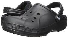 Crocs Winter Clog  Lined Black Fuzzy Crocs Mens 10 / Womens 12