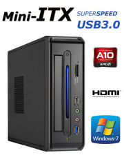 Mini-ITX PC AMD A10 Quad 2,8Ghz 8GB SSD 240GB Windows 7 Pro Computer HDMI USB3