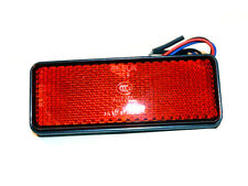 RED LED Rectangle Reflector Tail Brake Marker Light Motorcycle Truck Trailer RV