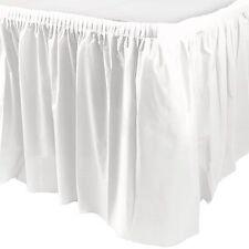 14ft Plastic WHITE Table Skirt wedding party