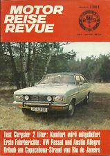 Motor Reise Revue Magazine June 1973 Chrysler 2-Liter VW Passat
