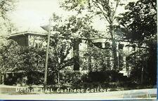 Denhart Hall Carthage College Post Card Carthage Ill EKC RPPC