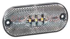 LED WHITE FRONT MARKER LAMP LIGHT UPGRADE FOR JOKON OVAL CARAVAN MARKER LIGHTS