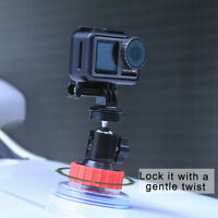 Driving Recorder Car Suction Cup Bracket for DJI OSMO Action Camera Mount Stand