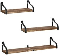 3Pcs Wall Mounted Floating Shelves Display Ledge Storage for Room/Kitchen/Office
