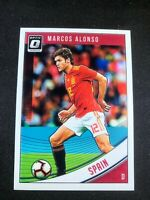 2018-19 Panini Donruss Optic Soccer Marcos Alonso Spain Chelsea #166