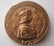 Medal of Louis XII, King of France (r. 1498-1515 and Anne of Brittany 1476-1514