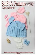 KNITTING PATTERN for BABY BOY GIRL JACKET HAT & SHOES #29 NOT CLOTHES