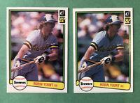 1982 Donruss Baseball Robin Yount #510