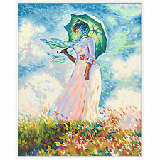 Frau mit Sonnenschirm nach Claude Monet Malen nach Zahlen Schipper 609130759