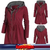 Women Winter Hooded Coat Parka Jacket Trench Outwear Pullover Hoodies Overcoat