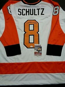 Dave Schultz Philadelphia Flyers Autographed White Style Jersey XL coa-JSA-