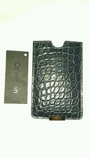 CALVIN KLEIN COLLECTION  iPhone 5/5s Navy  Leather Phone Holder Cover Case