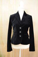 Ann Taylor LOFT - Black cotton blend VELVET Single Button BLAZER, size 2