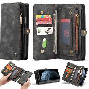 iPhone 13 12 11 Pro Max Mini SE Xs XR 7 8 + CaseMe Magnetic Leather Wallet Case