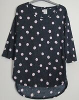 New Marks & Spencer Collection Spotted 3/4 Sleeve Tunic Top - Size 8 - 19