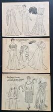 Lot of 3 President Wives Series Paper Dolls from Children's Activities Mag. 1957